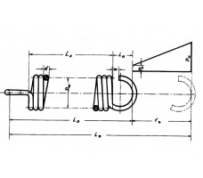 Ελατήριo 'Ελξεως μήκους 17,3 mm