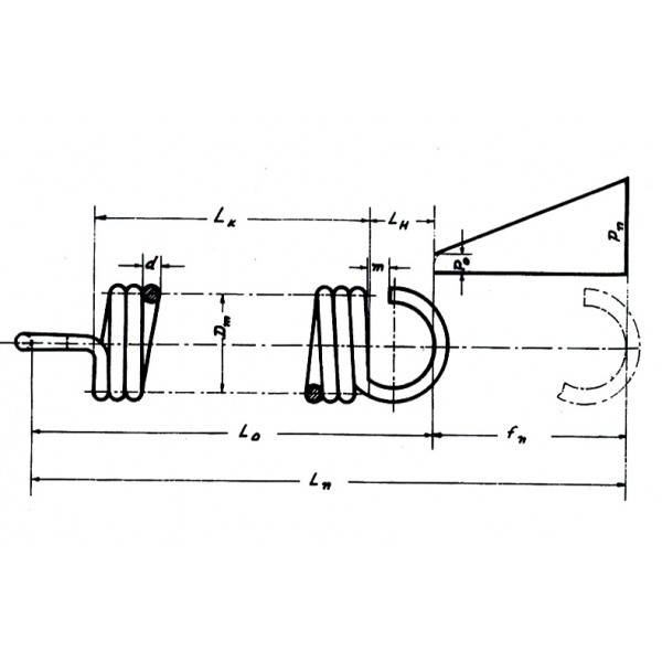 Ελατήριo 'Ελξεως μήκους 20,1 mm