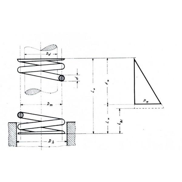 Ελατήριo Πιέσεως μήκους 2,7 mm